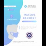 Masque Barrière Non Médical Adulte Blancs B/6 à SAINT-GERMAIN-DU-PUY