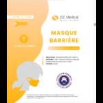Masque Barrière Non Médical Enfant (11/16 Ans) Blancs B/6 à SAINT-GERMAIN-DU-PUY