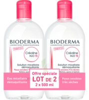 Crealine Ts H2o Solution Micellaire Sans Parfum Nettoyante Apaisante 2fl/500ml à SAINT-GERMAIN-DU-PUY