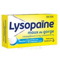 LysopaÏne Comprimés à Sucer Maux De Gorge Sans Sucre 2t/18 à SAINT-GERMAIN-DU-PUY