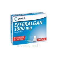 Efferalgan 1000 mg Comprimés pelliculés Plq/8 à SAINT-GERMAIN-DU-PUY