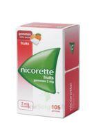 Nicorette 2 Mg Gomme à Mâcher Médicamenteuse Sans Sucre Fruits Plq/105 à SAINT-GERMAIN-DU-PUY