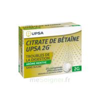 Citrate De Bétaïne Upsa 2 G Comprimés Effervescents Sans Sucre Menthe édulcoré à La Saccharine Sodique T/20 à SAINT-GERMAIN-DU-PUY