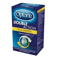 Optone Double Action Solution Oculaire Yeux Irrités Fl/10ml à SAINT-GERMAIN-DU-PUY