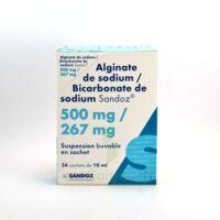 ALGINATE DE SODIUM/BICARBONATE DE SODIUM SANDOZ 500 mg/267 mg, suspension buvable en sachet à SAINT-GERMAIN-DU-PUY