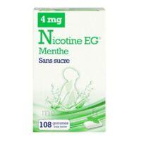 Nicotine EG 4 mg Gomme à mâcher médicamenteuse sans sucre menthe édulcorée à l'acésulfame potassique et saccharine Plq/108 à SAINT-GERMAIN-DU-PUY