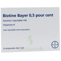 BIOTINE BAYER 0,5 POUR CENT, solution injectable I.M. à SAINT-GERMAIN-DU-PUY