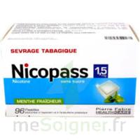 Nicopass 1,5 mg Pastille sans sucre menthe fraîcheur Plq/96 à SAINT-GERMAIN-DU-PUY