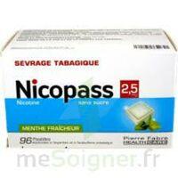 Nicopass 2,5 Mg Pastille Menthe Fraîcheur Sans Sucre Plq/96 à SAINT-GERMAIN-DU-PUY