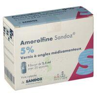 AMOROLFINE SANDOZ 5 % V ongles médicamenteux Fl/2,5ml+20spatules à SAINT-GERMAIN-DU-PUY