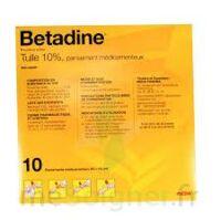 Betadine Tulle 10 % Pans Méd 10x10cm 10sach/1 à SAINT-GERMAIN-DU-PUY