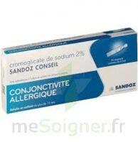 CROMOGLICATE DE SODIUM SANDOZ CONSEIL 2 %, collyre en solution en récipient unidose 10Unid/0,3ml à SAINT-GERMAIN-DU-PUY