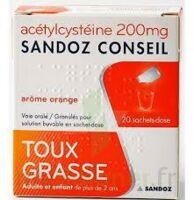 ACETYLCYSTEINE SANDOZ CONSEIL 200 mg Glé solution buvable en sachet-dose 20Sach/1g à SAINT-GERMAIN-DU-PUY