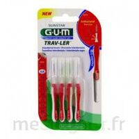 GUM TRAV - LER, 0,8 mm, manche rouge , blister 4 à SAINT-GERMAIN-DU-PUY