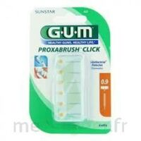 GUM PROXABRUSH CLICK, 0,9 mm, ocre jaune , blister 6 à SAINT-GERMAIN-DU-PUY