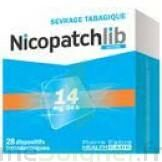 NICOPATCHLIB 14 mg/24 h Dispositifs transdermiques B/28 à SAINT-GERMAIN-DU-PUY
