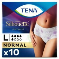 Tena Lady Silhouette Slip Absorbant Blanc Normal Large Paquet/10 à SAINT-GERMAIN-DU-PUY